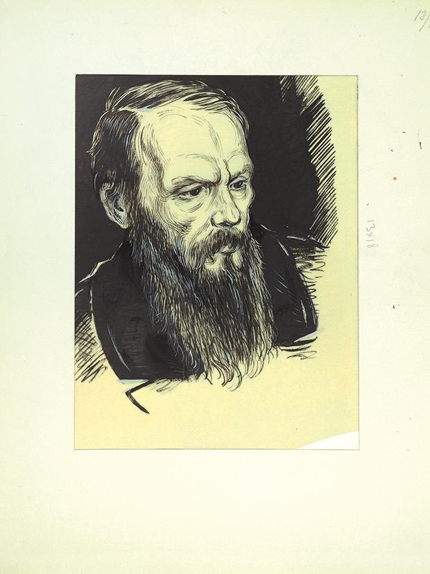 Портрет Ф. М. Достоевского. 1950-е