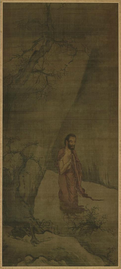 Шакьямуни, спускающийся с гор. Центральная часть триптиха