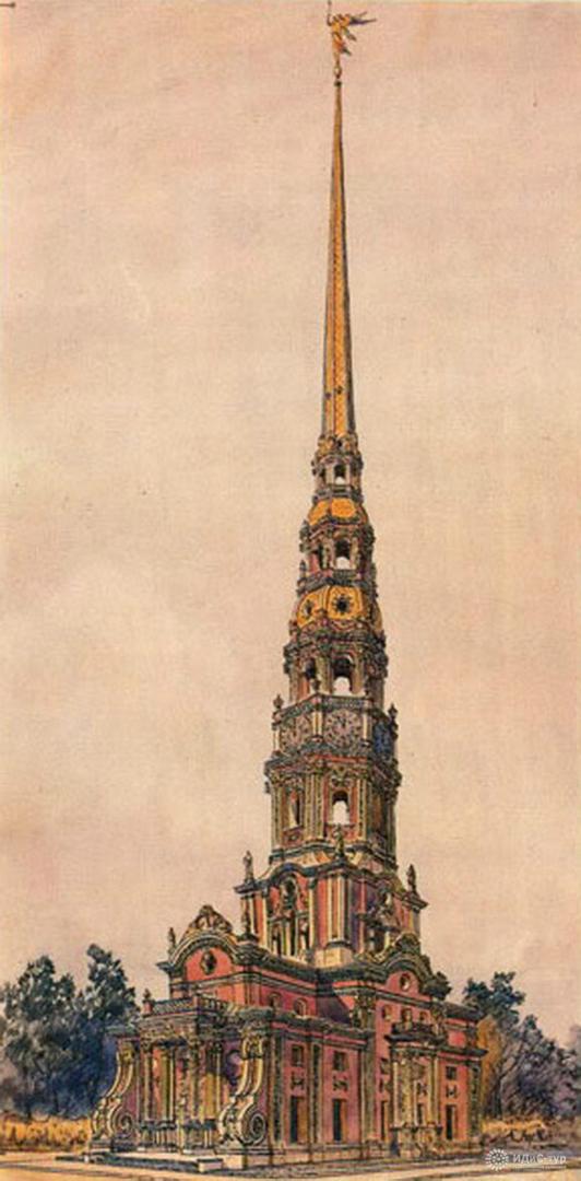 Церковь Архангела Гавриила («Меншикова башня») в Москве. 1704–1707