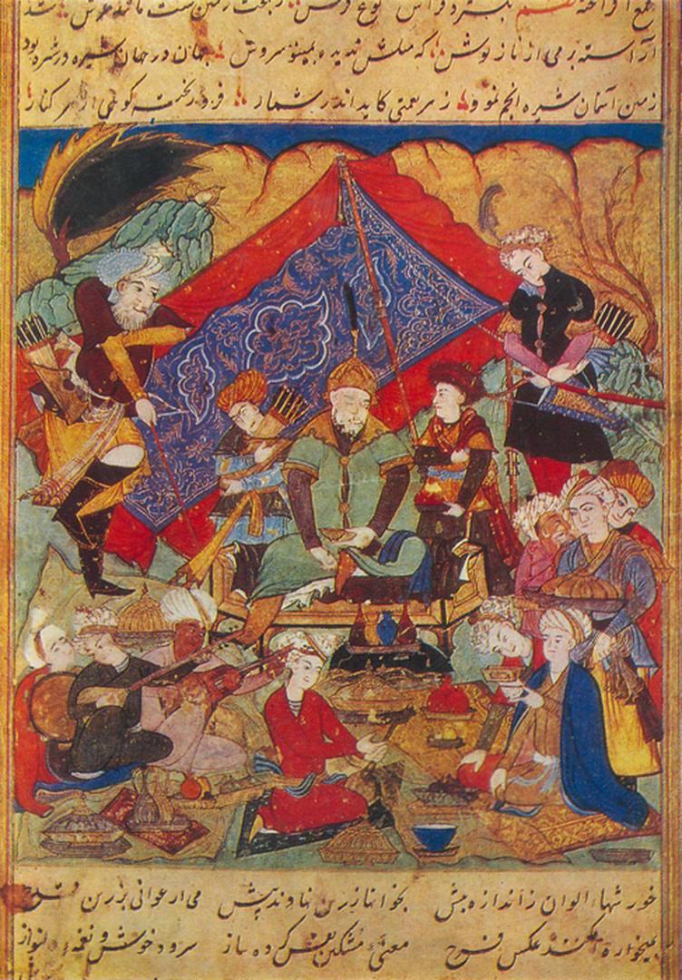 Тимур на пиру в Самарканде. 1628