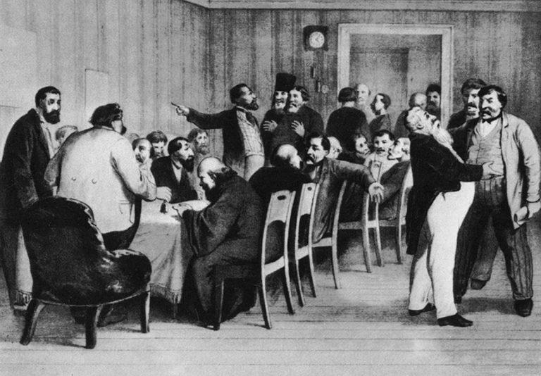Земское собрание в провинции. 1868