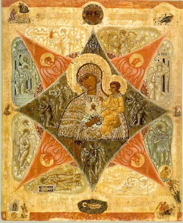 Купина Неопалимая. Икона. Кон. XVI в.